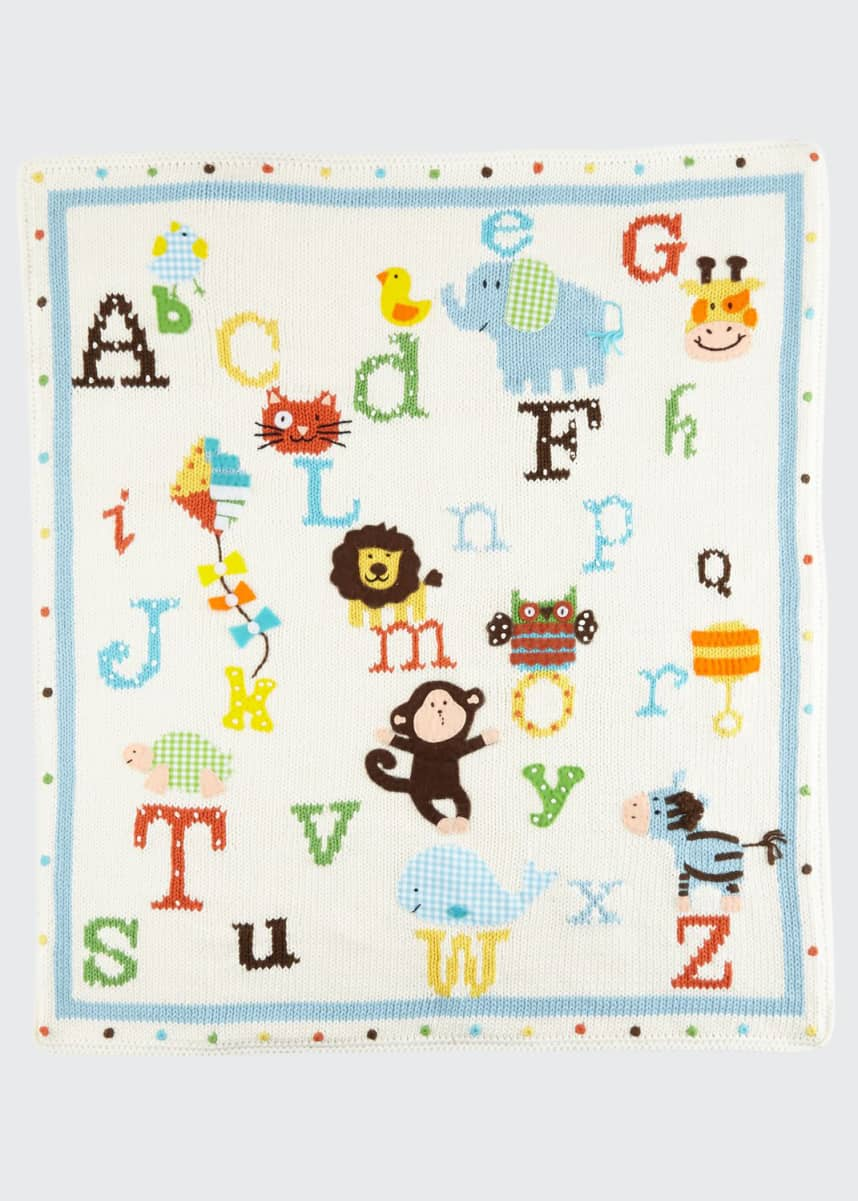 Art Walk Alphabet Soup Knit Blanket