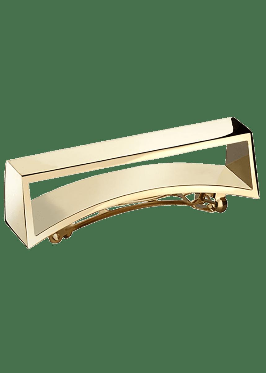 Oribe Geometric Gold Plated Metal Barrette