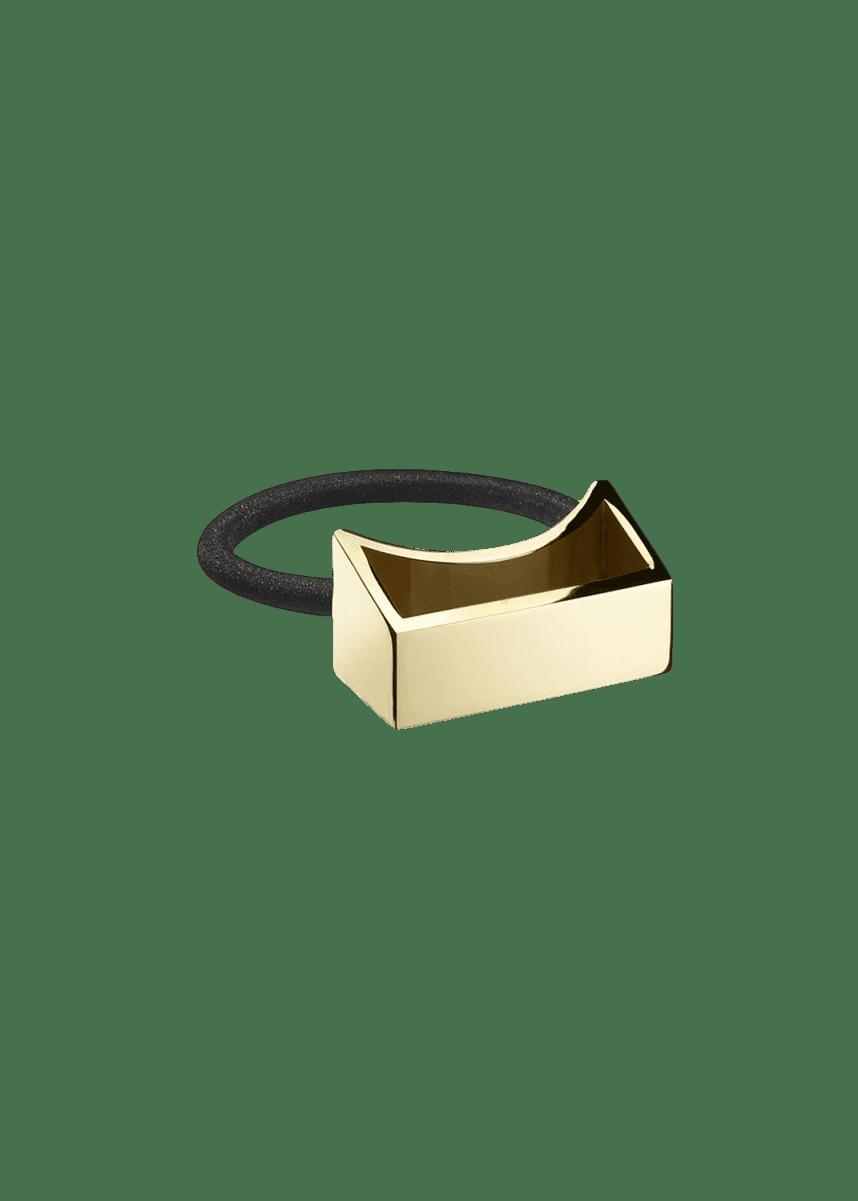 Oribe Geometric Gold Plated Metal Ponytail Holder