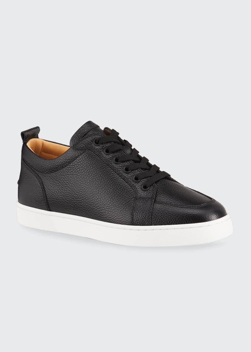 Christian Louboutin Men's Rantulow Leather Low-Top Sneakers