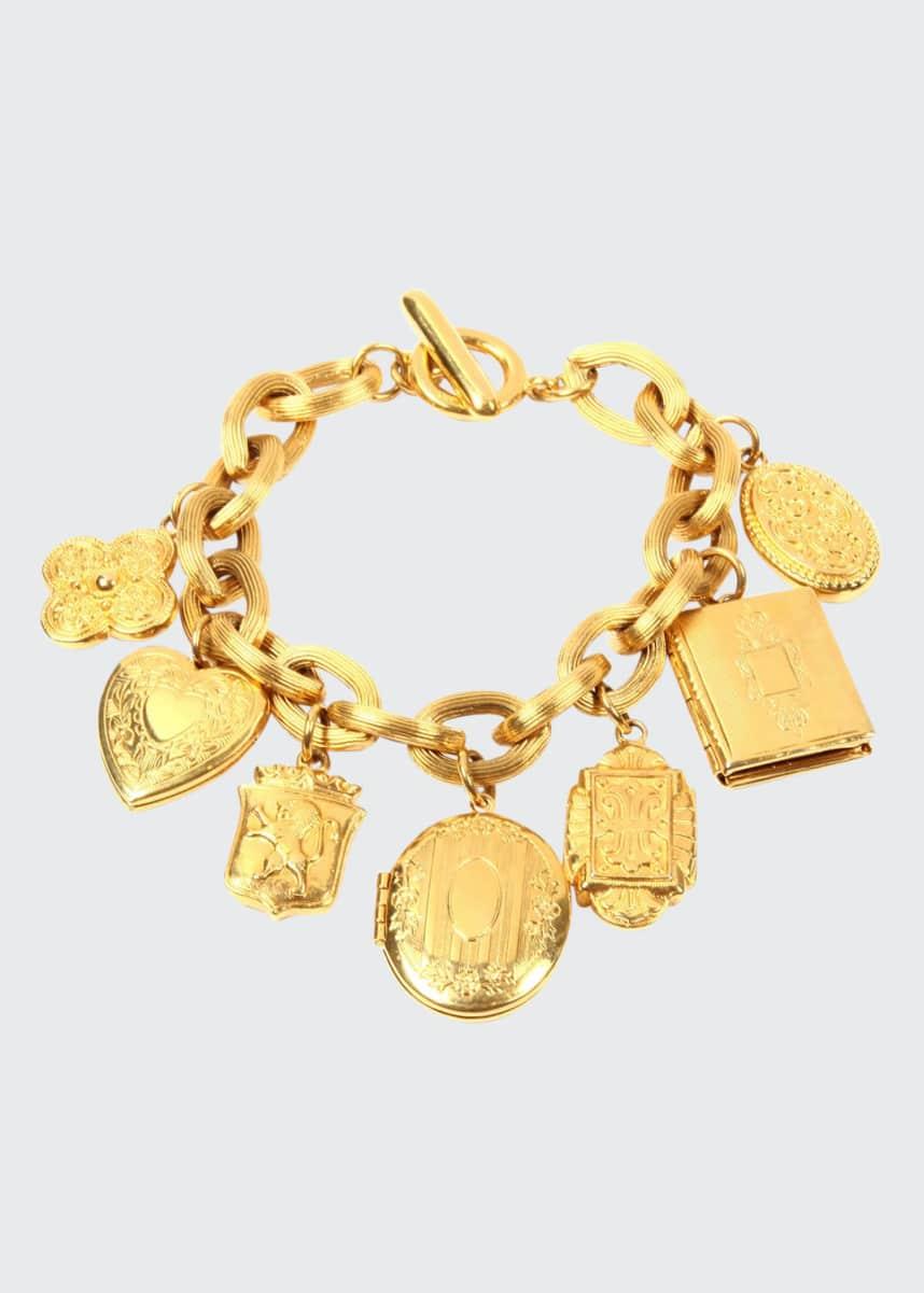 Ben-Amun Royal Locket Charm Bracelet