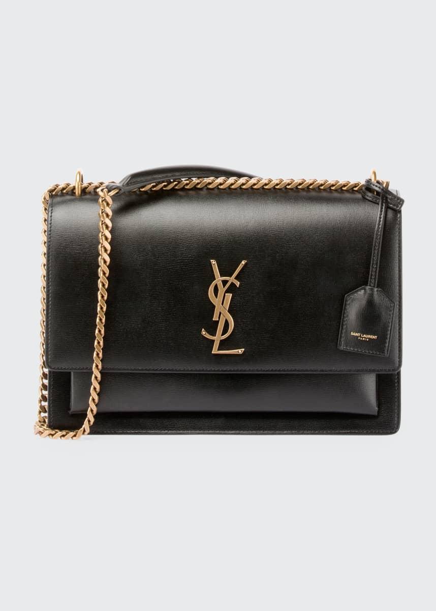 Saint Laurent Sunset Medium Monogram YSL Chain Crossbody Bag