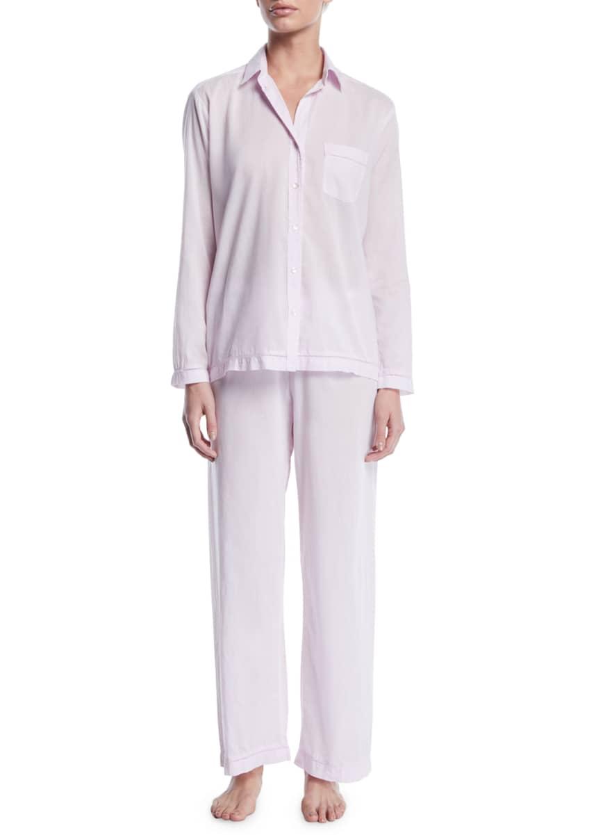 Pour Les Femmes Classic Two-Piece Pajama Set with Matching Lingerie Bag