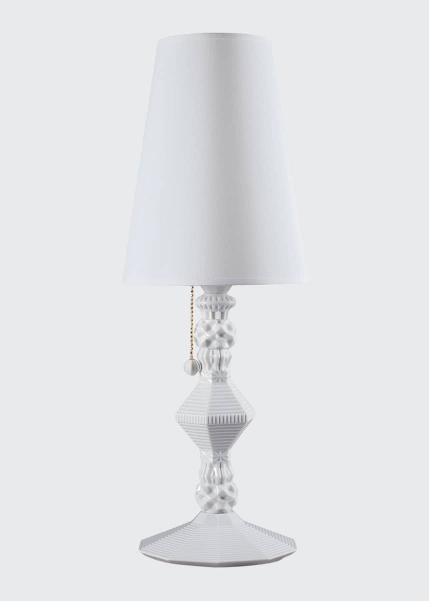 Lladro Belle de Nuit Table Lamp, White