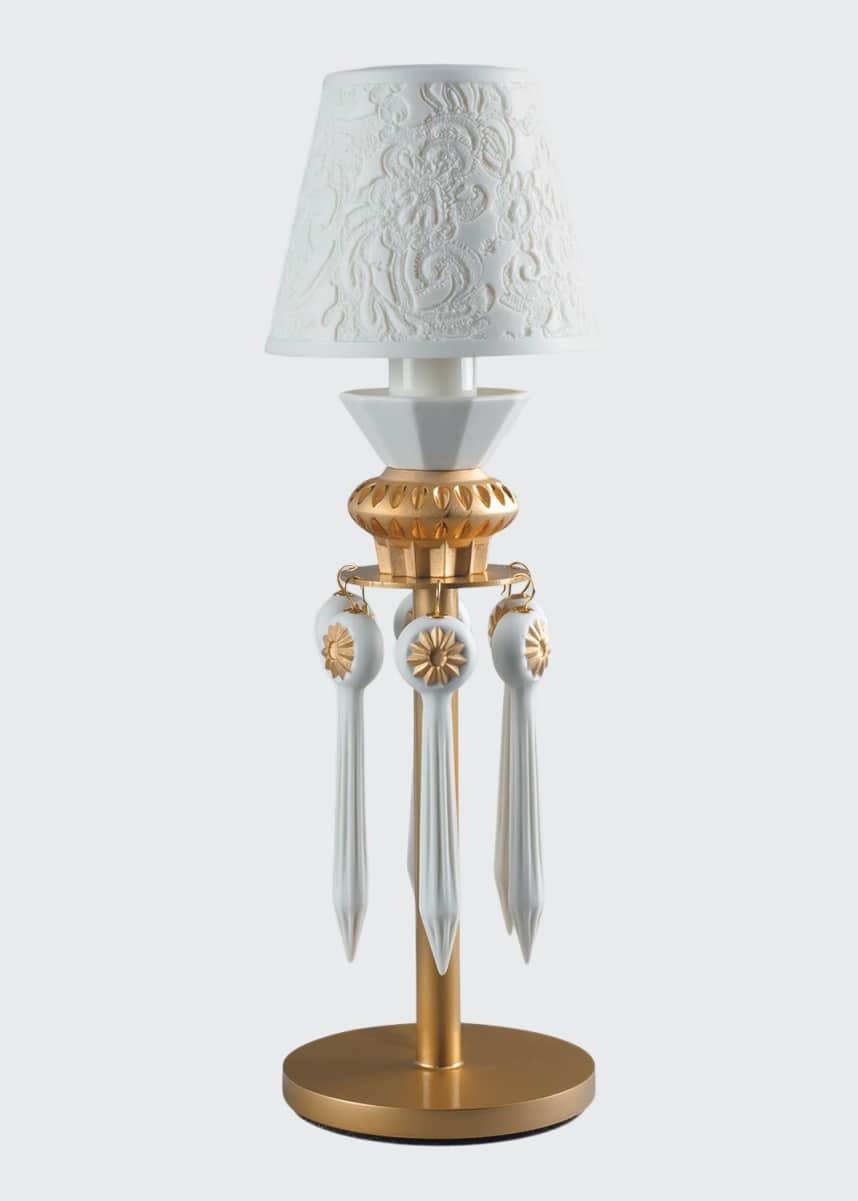Lladro Belle de Nuit Lithophane Lamp, Gold