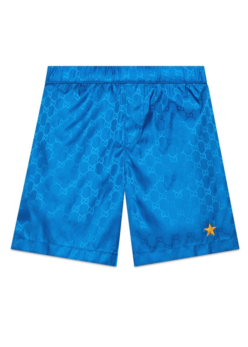 Gucci GG Supreme Athletic Shorts, Size 4-12