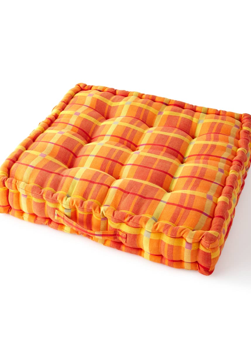 MacKenzie-Childs Boheme Plaid Floor Cushion