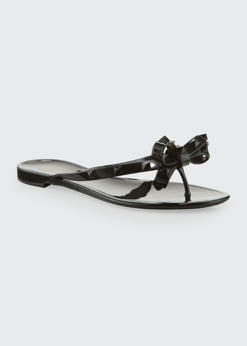 Valentino Garavani Rockstud PVC Jelly Thong Sandal