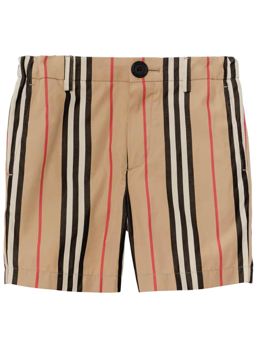Burberry Nicki Icon Stripe Shorts, Size 3-14
