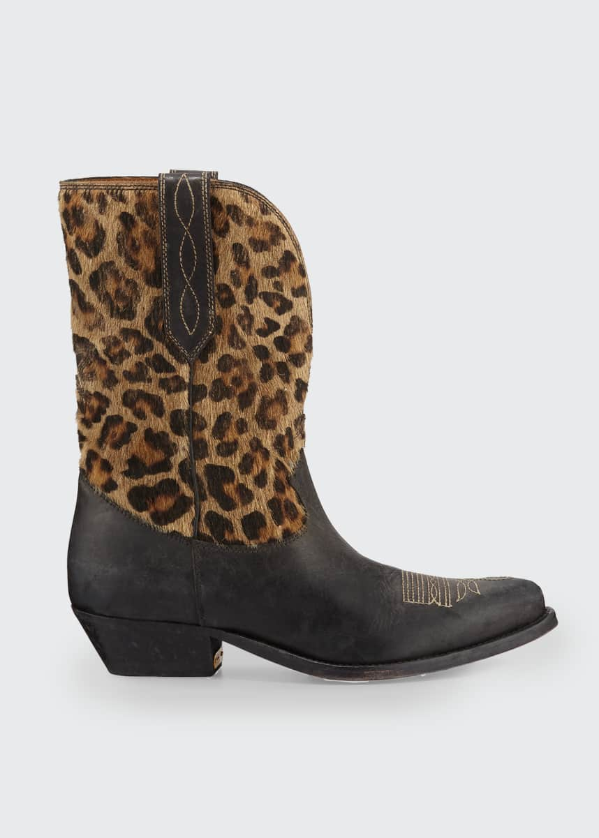 Golden Goose Wish Leopard Star Low Boots