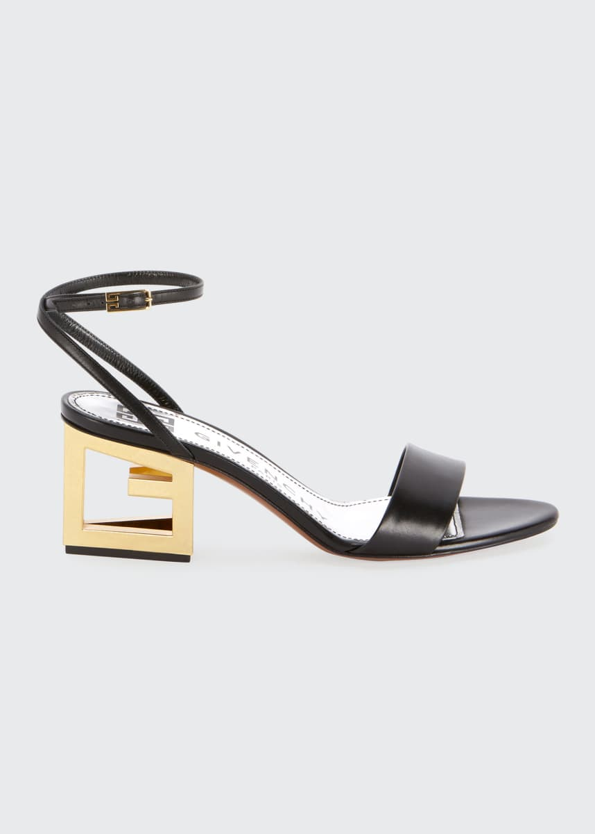 Givenchy Leather Sandals with Triangle Heel