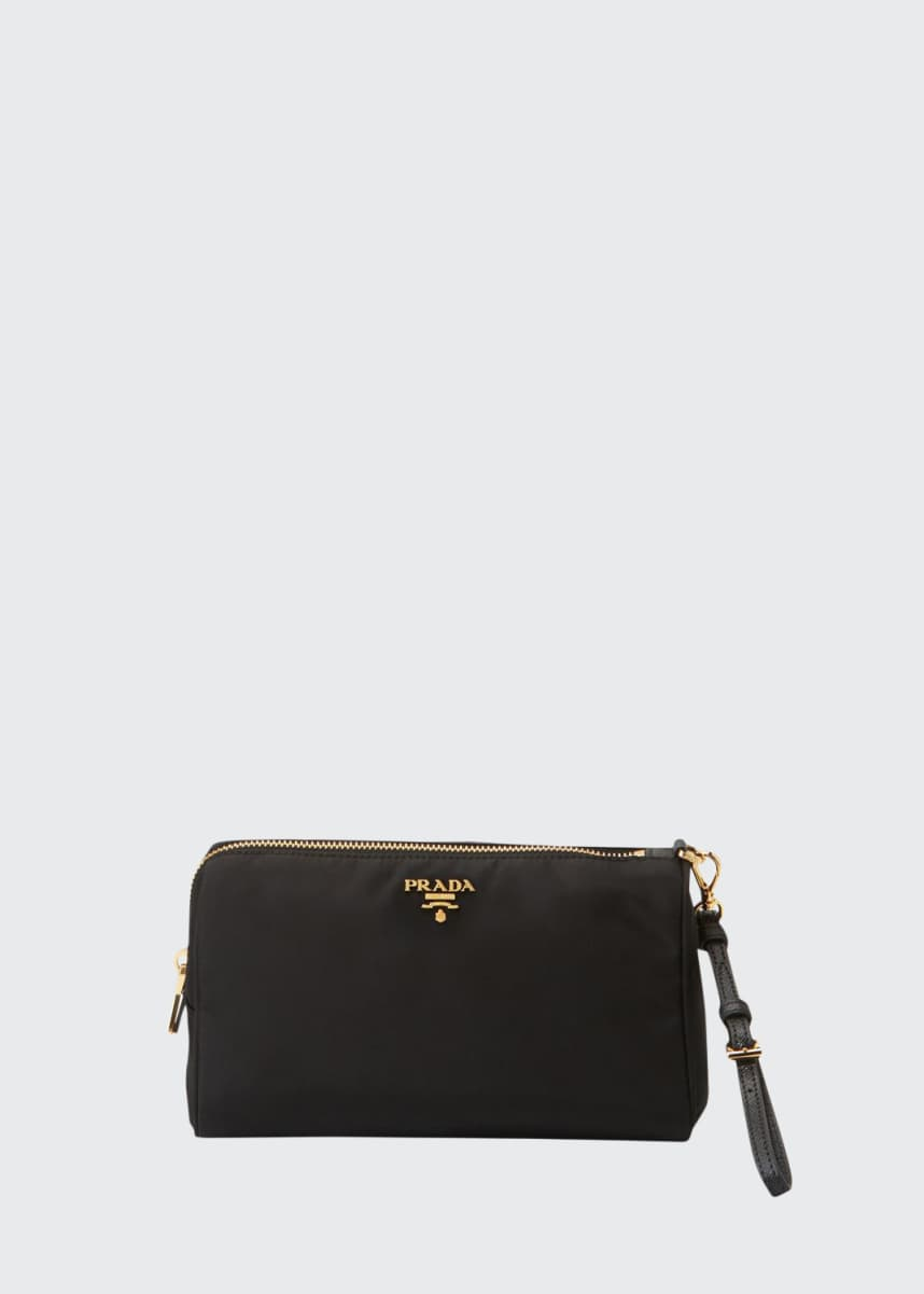 Prada Large Nylon Cosmetics Pouch Bag