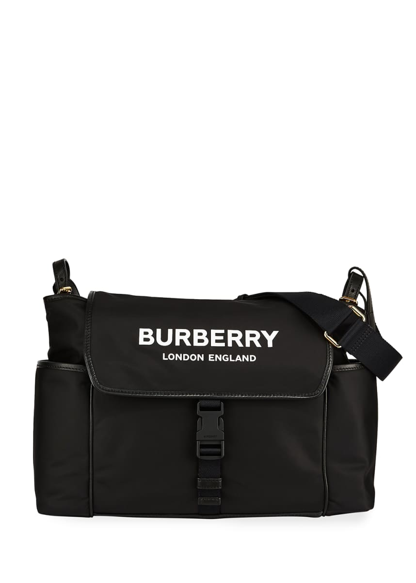 Burberry Logo Flap Diaper Bag
