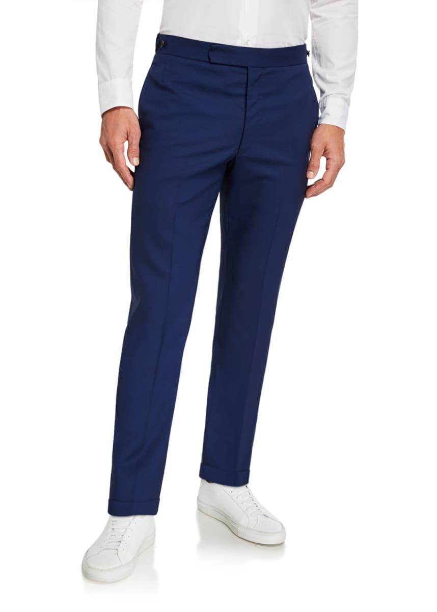 Gabriela Hearst Men's Sebastian Solid Wool Suiting Pants