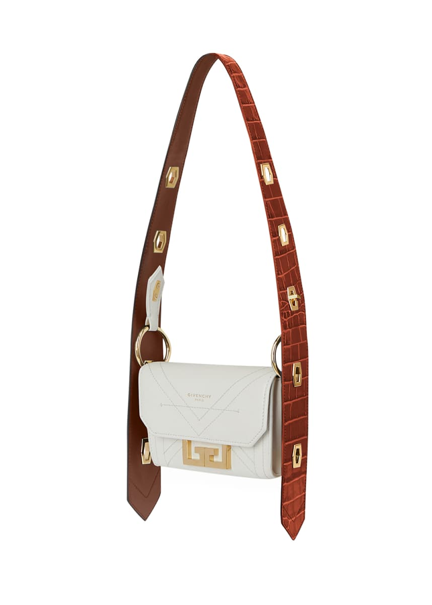 Givenchy Eden Nano Belt Bag with Croc-Embossed Trim