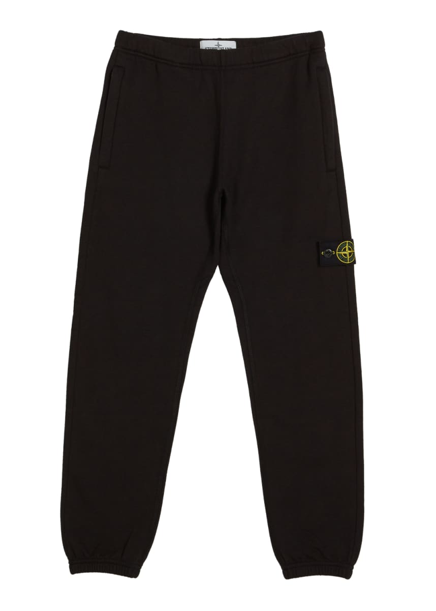 Stone Island Cotton Sweatpants w/ Reflective Tape Trim, Size 2-6