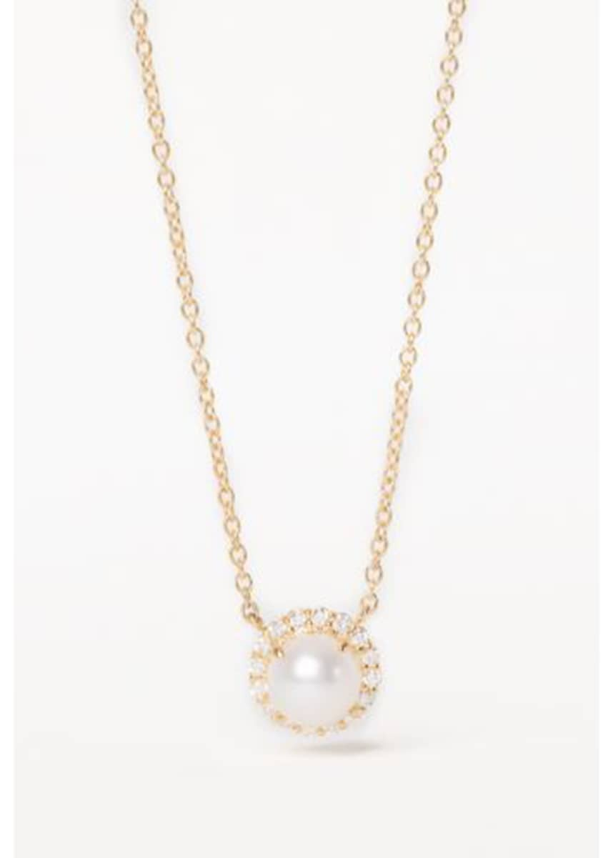 Jamie Wolf 18K Diamond-Edged Freshwater Pearl Necklace