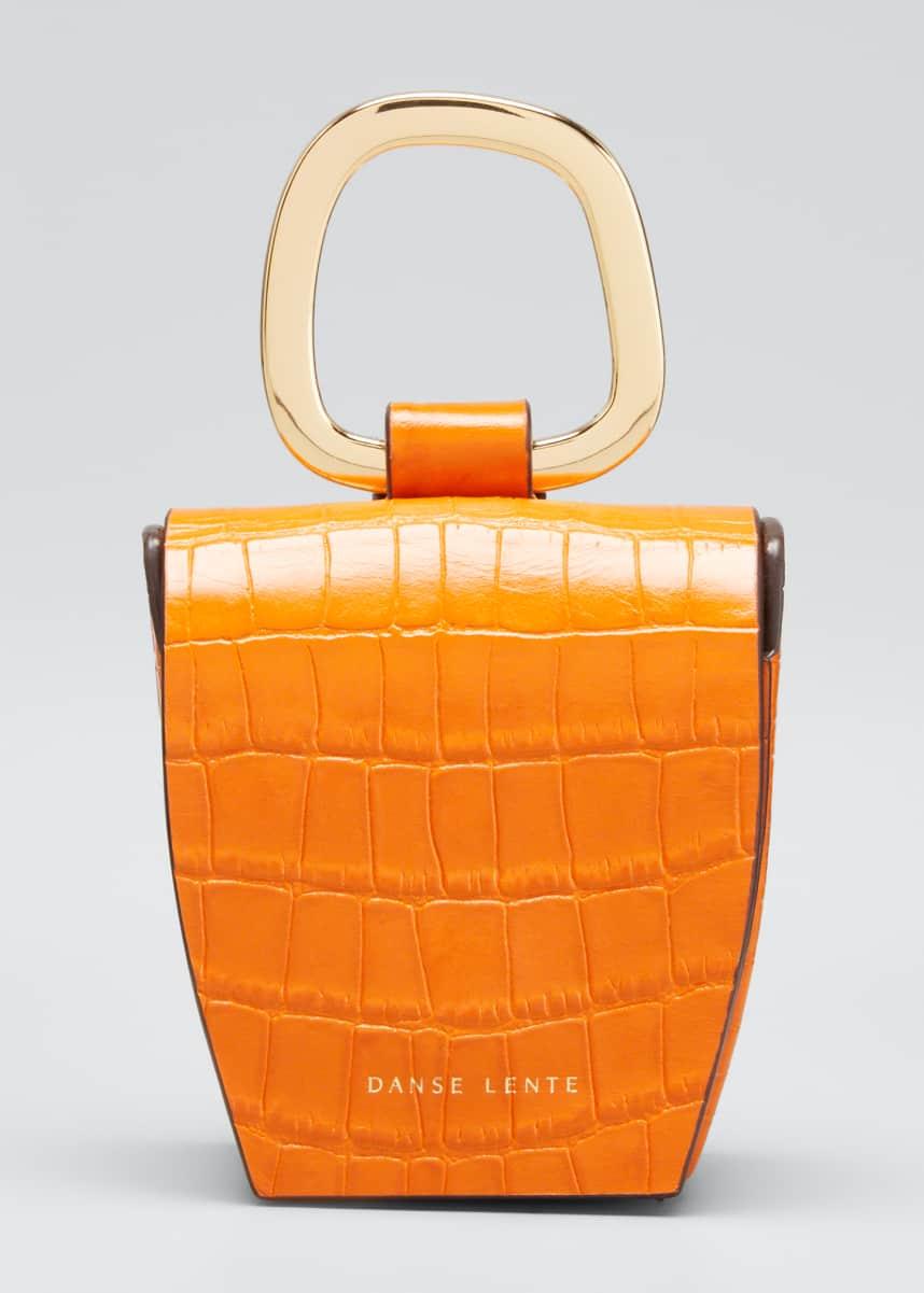 Danse Lente Mock-Croc Leather Box Bag