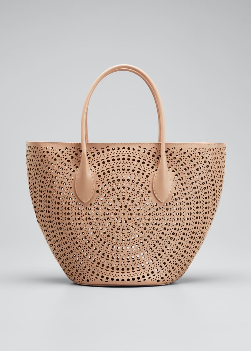 ALAIA Latifa Small Cuir Lux Mini New Vienne Tote Bag