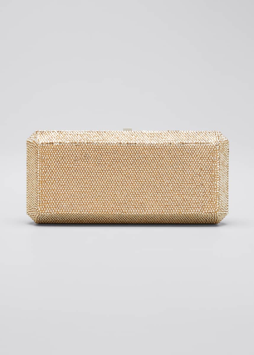 Judith Leiber Couture Slim Rectangle Fullbead Clutch Bag