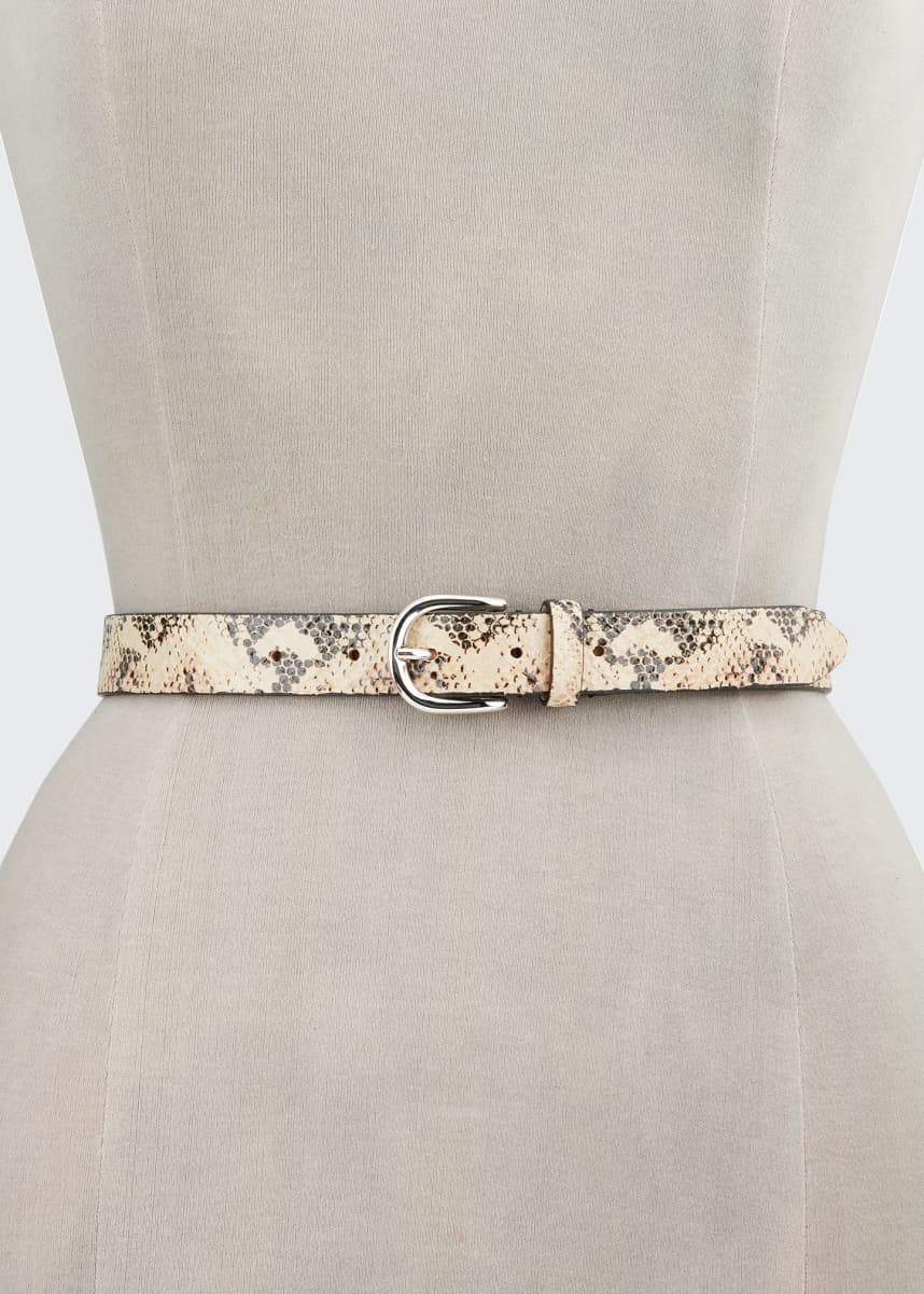 Etoile Isabel Marant Zap Python-Print Leather Belt