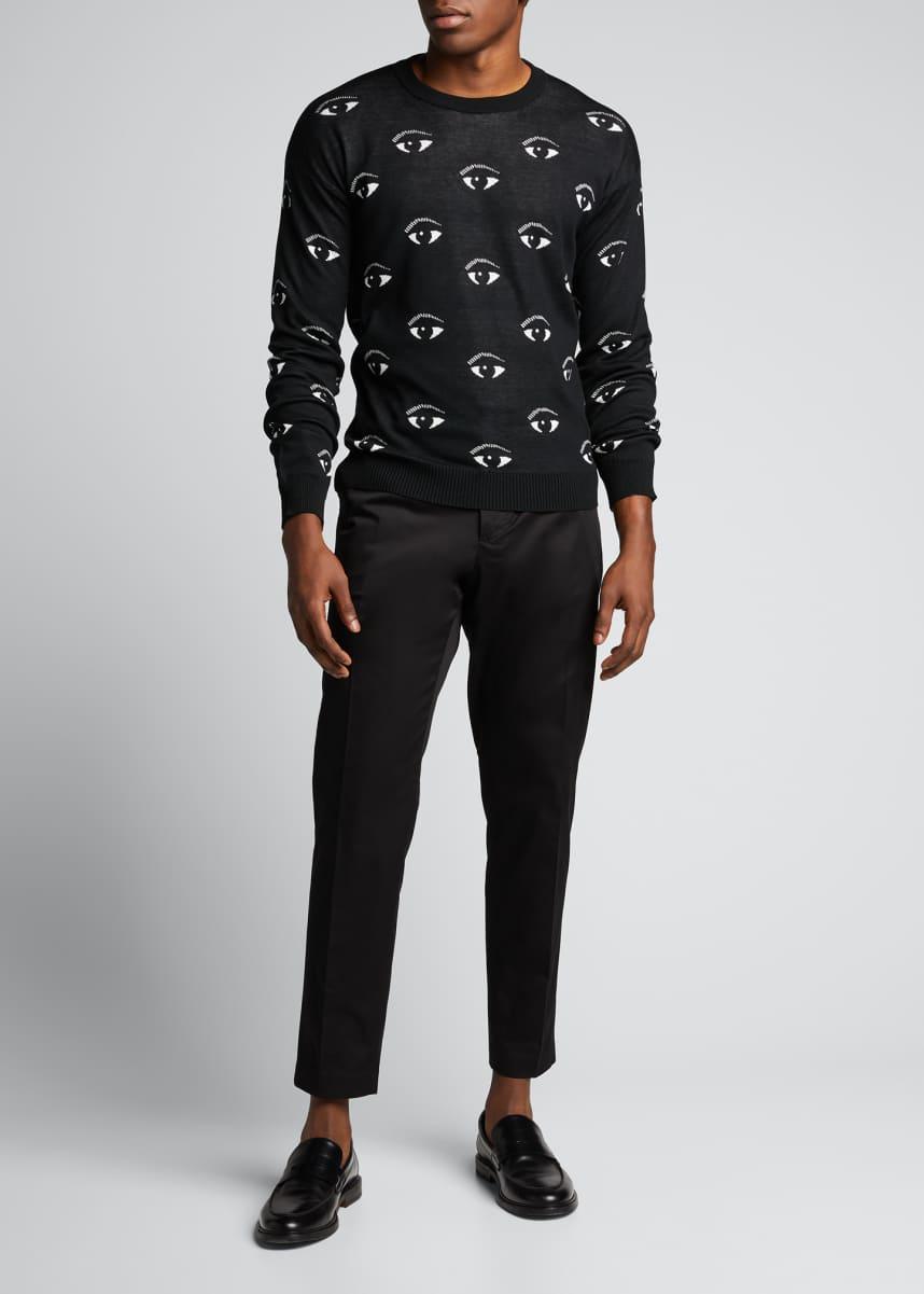 Kenzo Men's Allover Eye Graphic Sweater