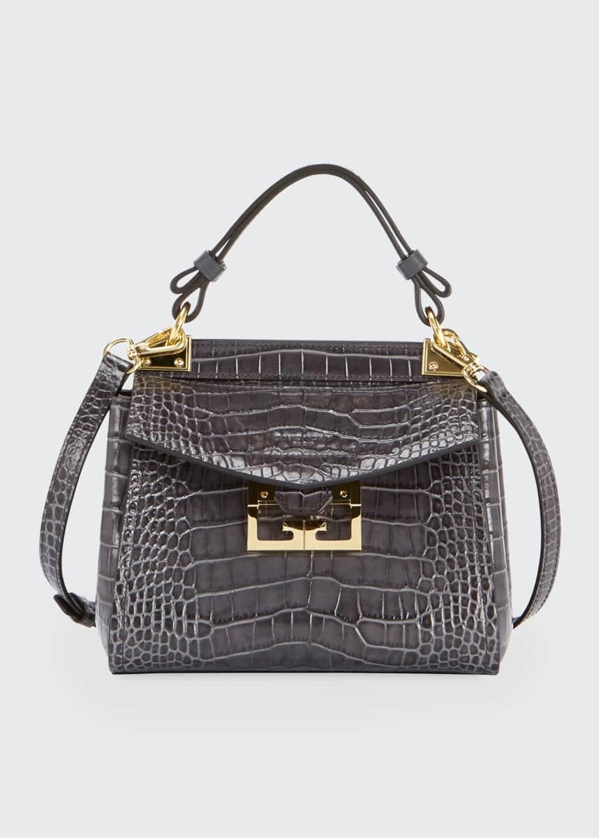 Givenchy Mystic Mini Croc-Embossed Bag