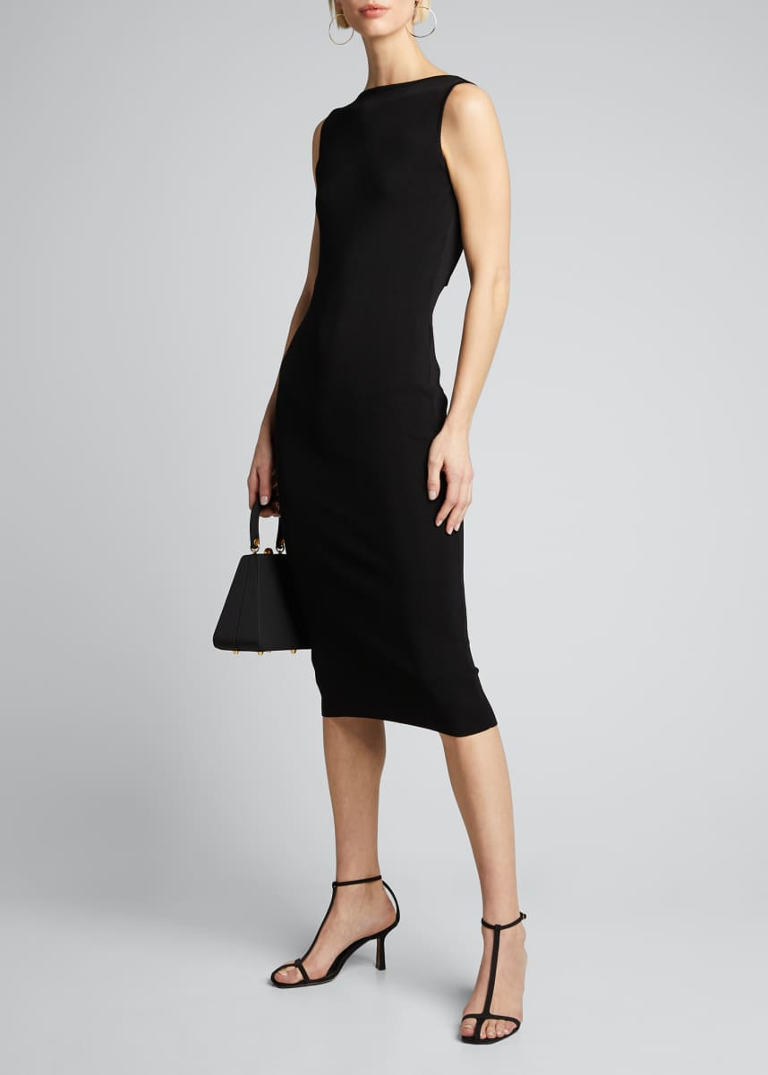 Gauge 81 Lausanne Cutout-Back Sleeveless Midi Dress