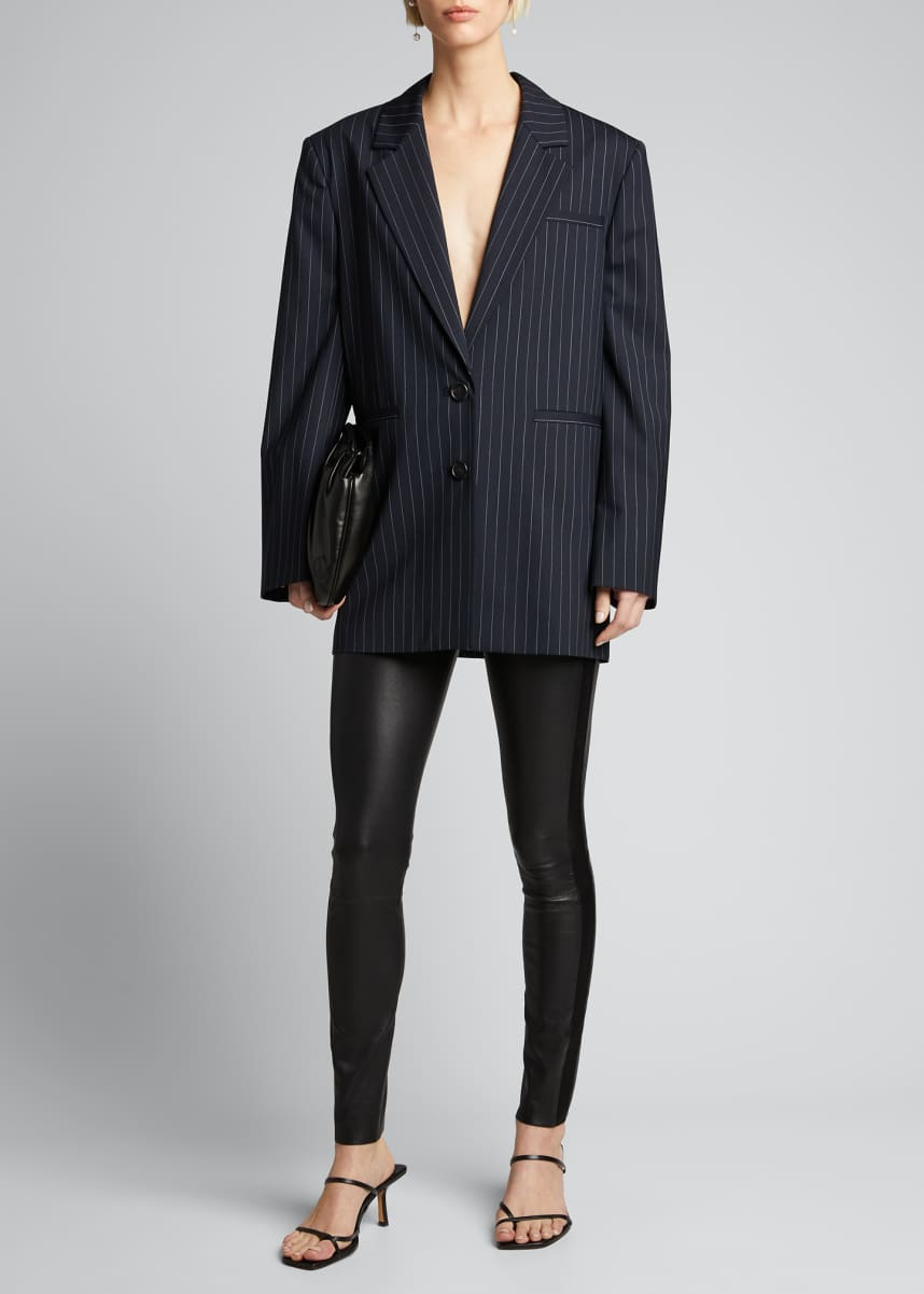 Gauge 81 Luxor Striped Oversized Blazer