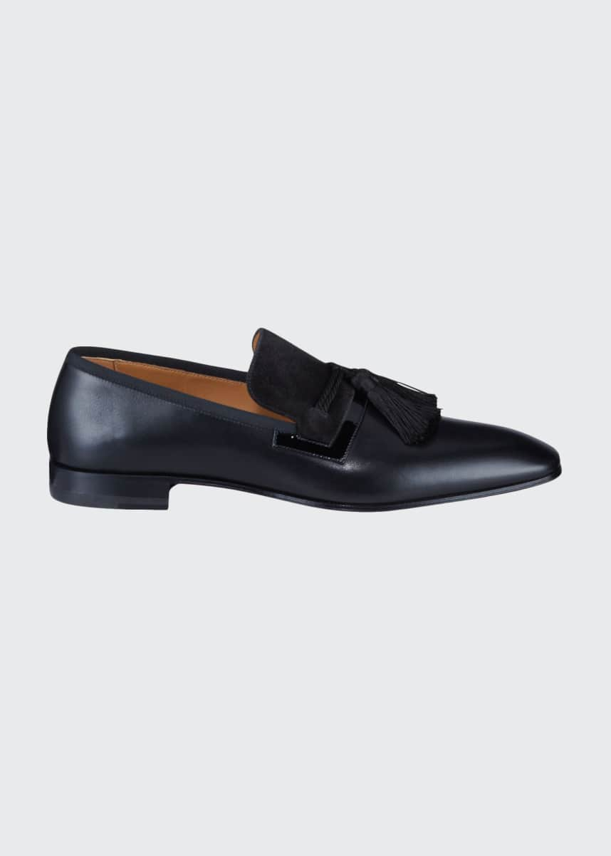 Christian Louboutin Men's Doc Sofa Tassel Red Sole Loafers