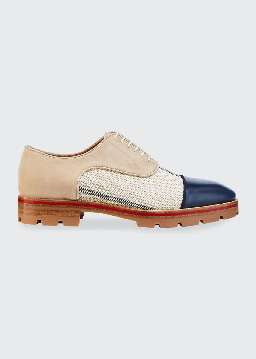 Christian Louboutin Men's Hubertus Orlato Lace-Up Shoes