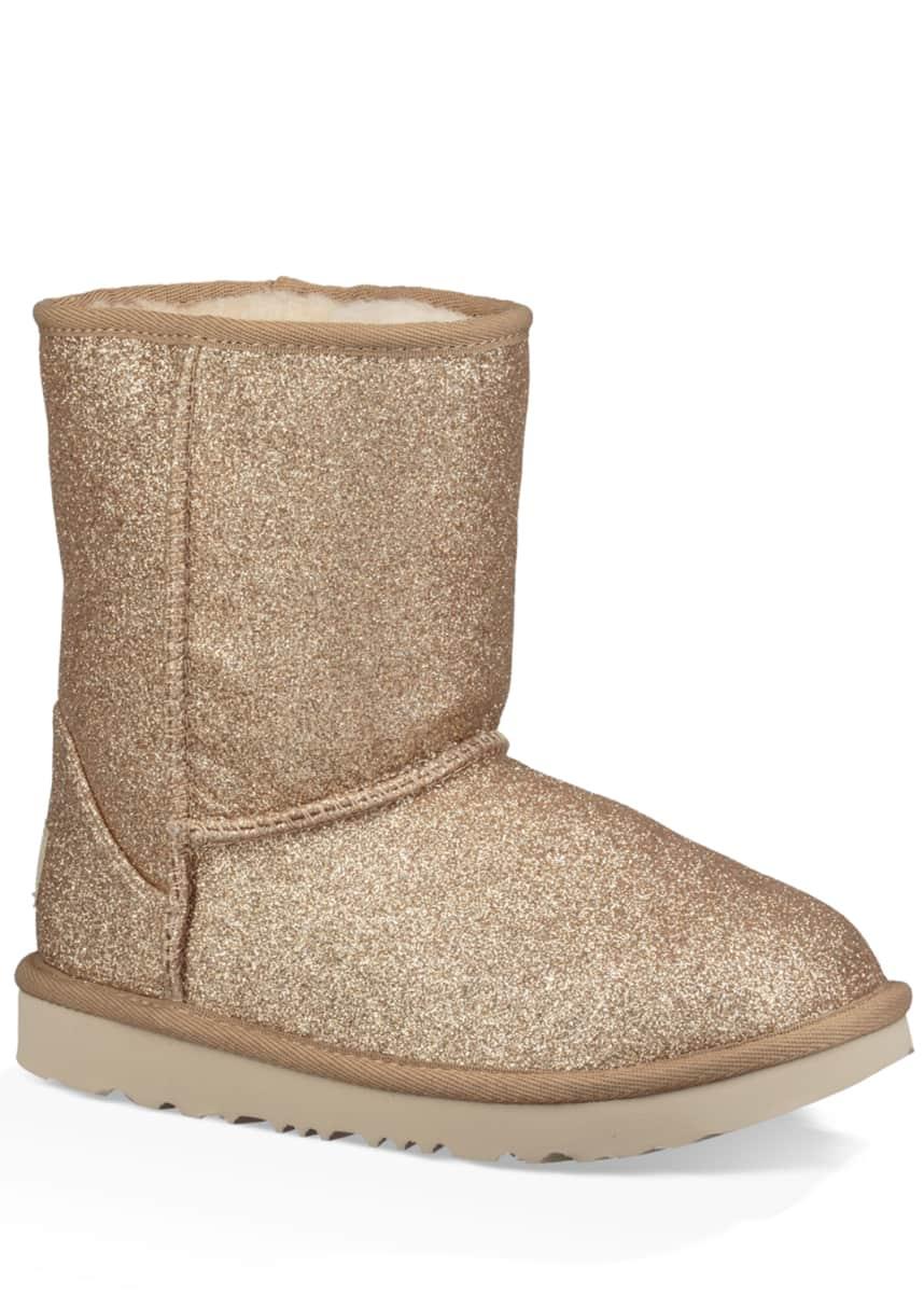 UGG Girl's Classic Short II Glitter Boots, Kids