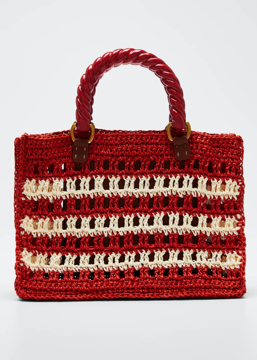 Mehry Mu Lucia Striped Mini Tote Bag, Red