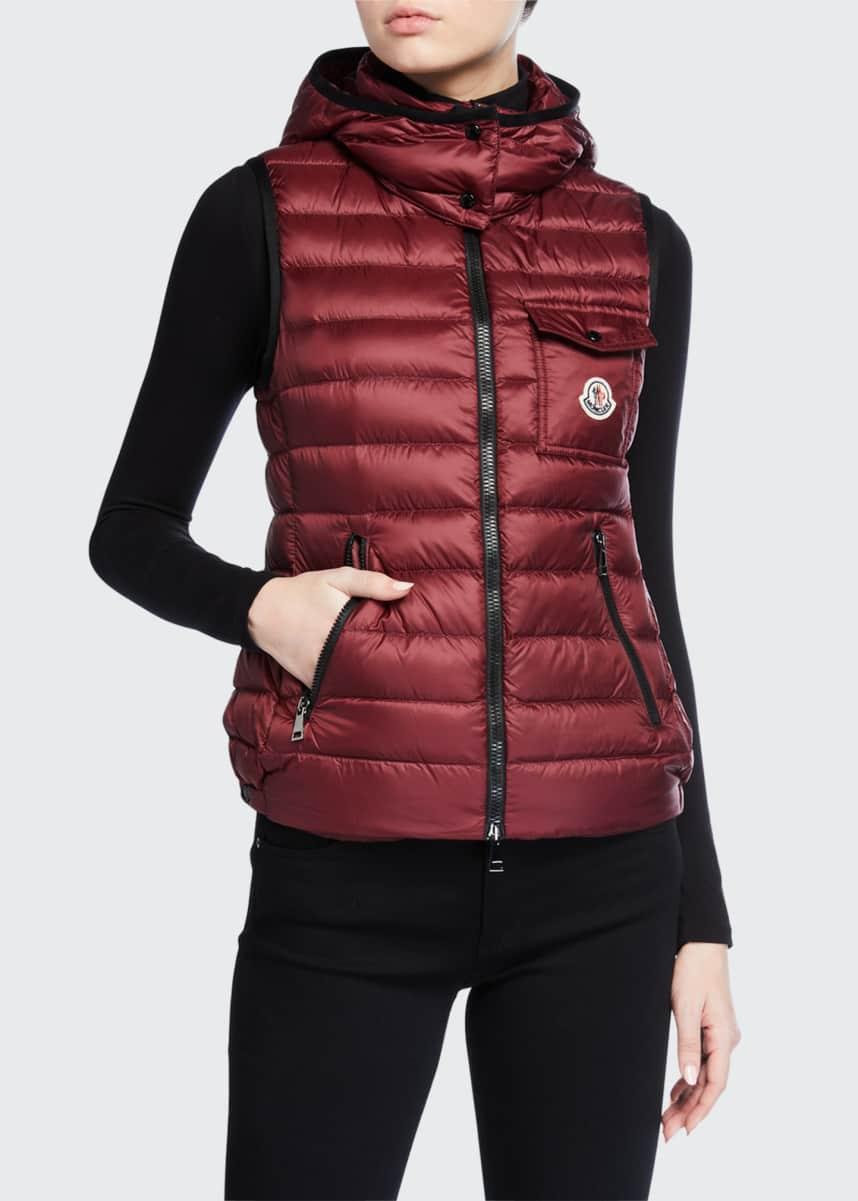 Moncler Glycine Detachable-Hood Puffer Vest