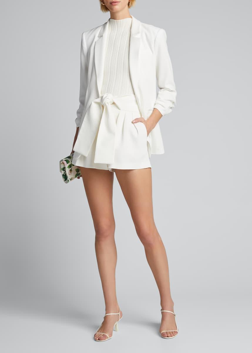 Iro Tynasa Pleated Tie-Waist Shorts