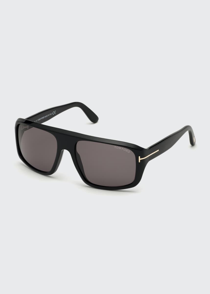 TOM FORD Men's Duke Square Solid Acetate Sunglasses
