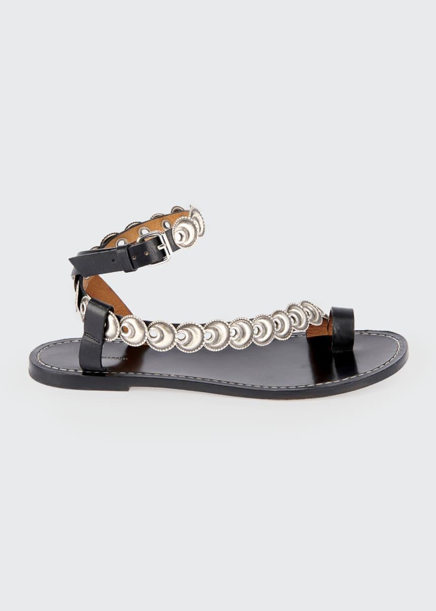 Isabel Marant Ermony Flat Metal Sandals