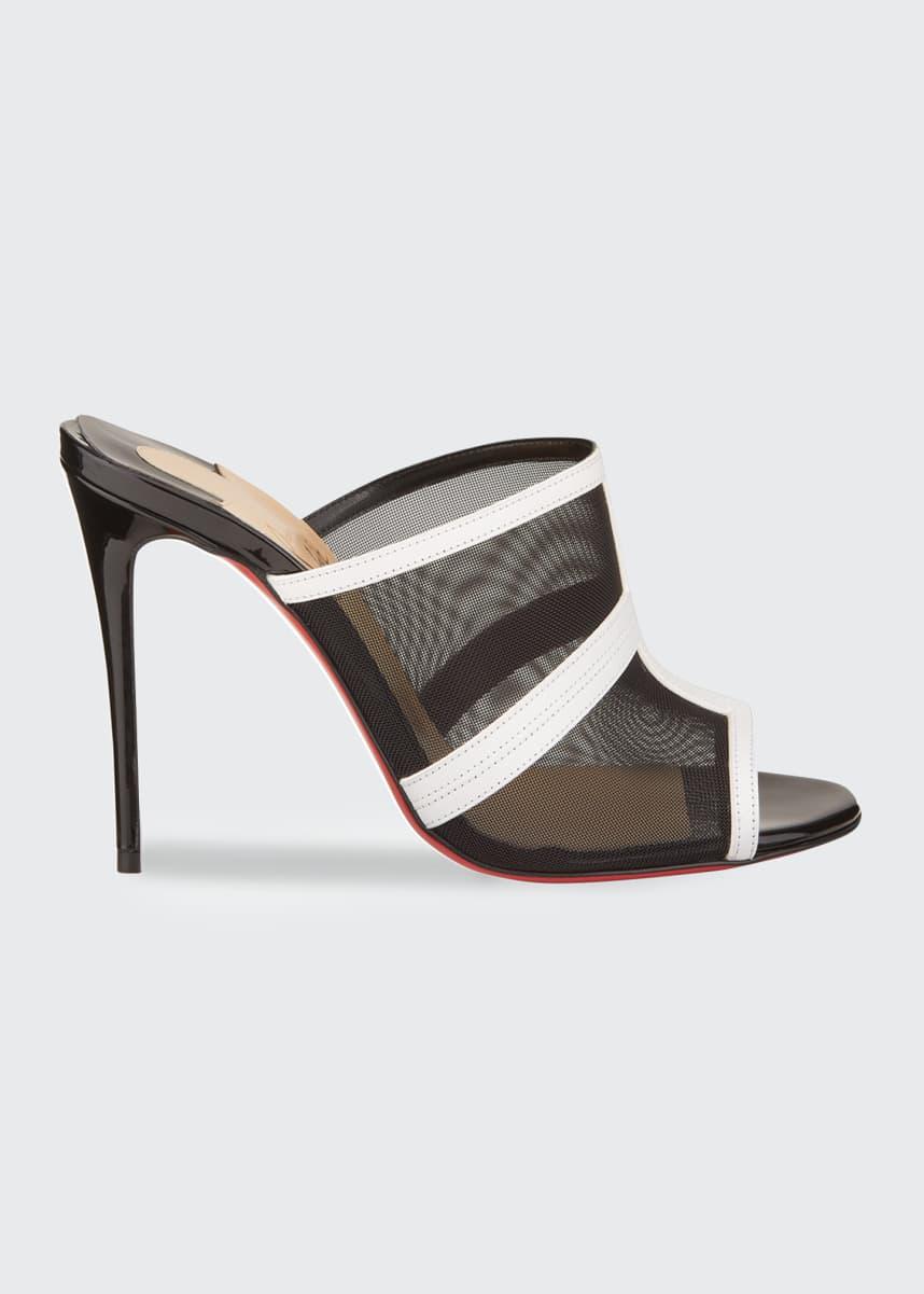 Christian Louboutin Interdite Mesh Red Sole Mule Sandals