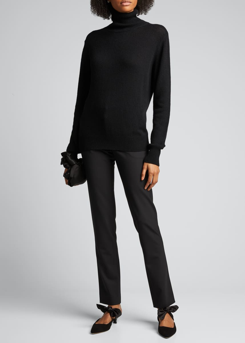 THE ROW Sachi Cashmere-Cotton Turtleneck Sweater