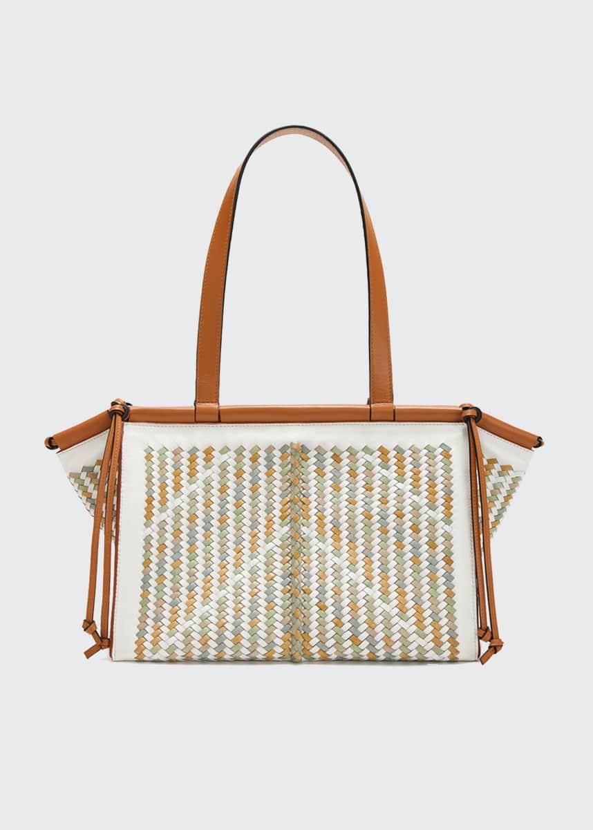 Loewe Cushion Small Woven Tote Bag