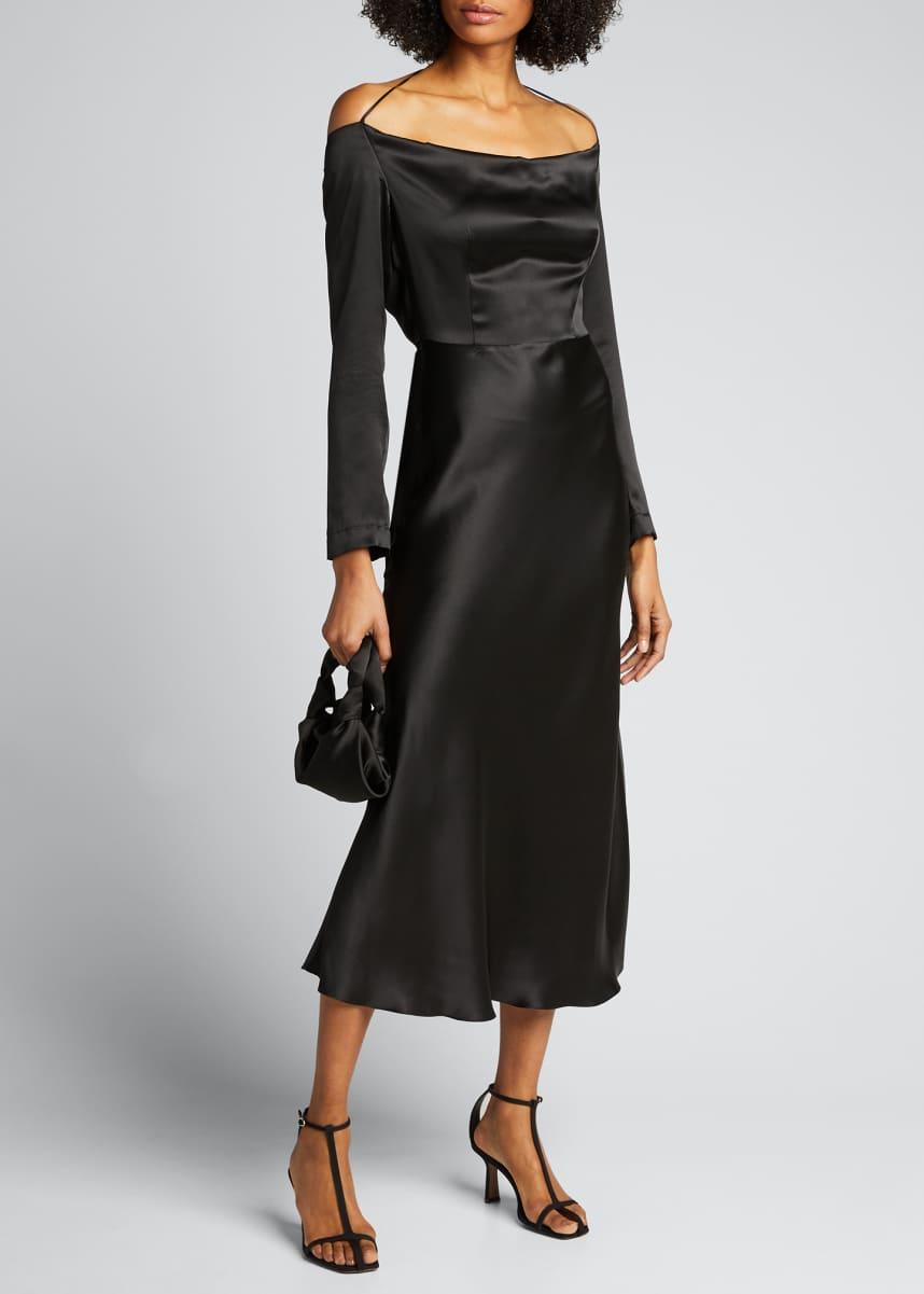 Materiel Open-Back Silk Cocktail Dress