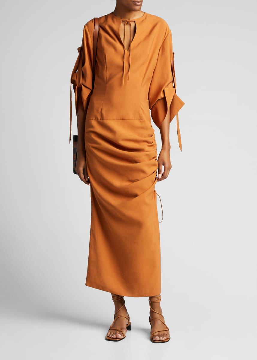 Materiel Draped Midi Dress