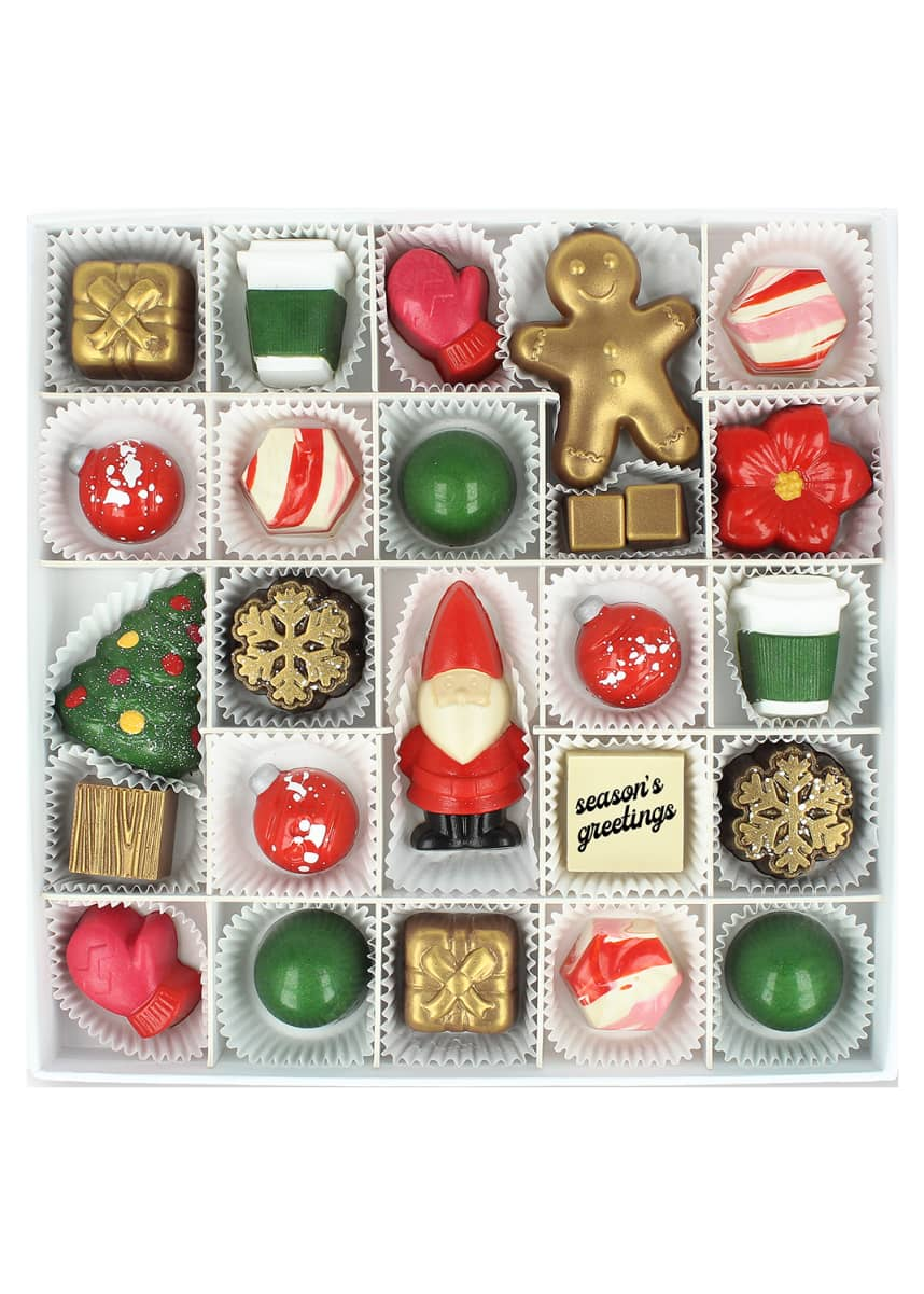 Maggie Louise 25-Piece Seasons Greetings Chocolate Gift Box