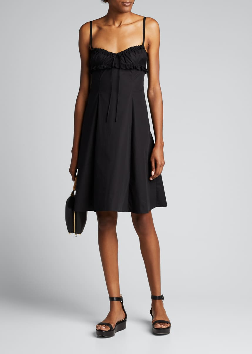 Brock Collection Frilled Sweetheart-Neck Cotton Dress