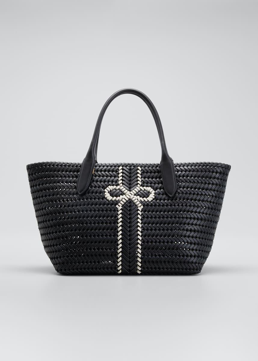 Anya Hindmarch The Neeson Stripe Leather Tote Bag