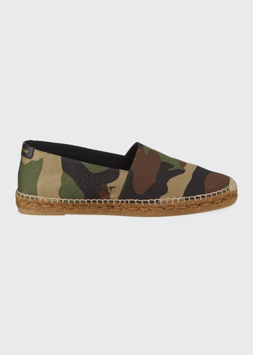 Saint Laurent Camo Slip-On Espadrilles