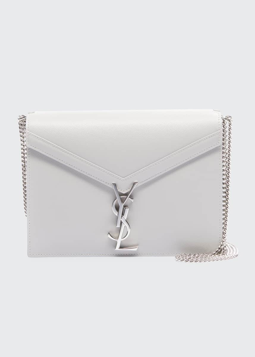 Saint Laurent Cassandra Small Grain de Poudre Flap-Top Crossbody Bag