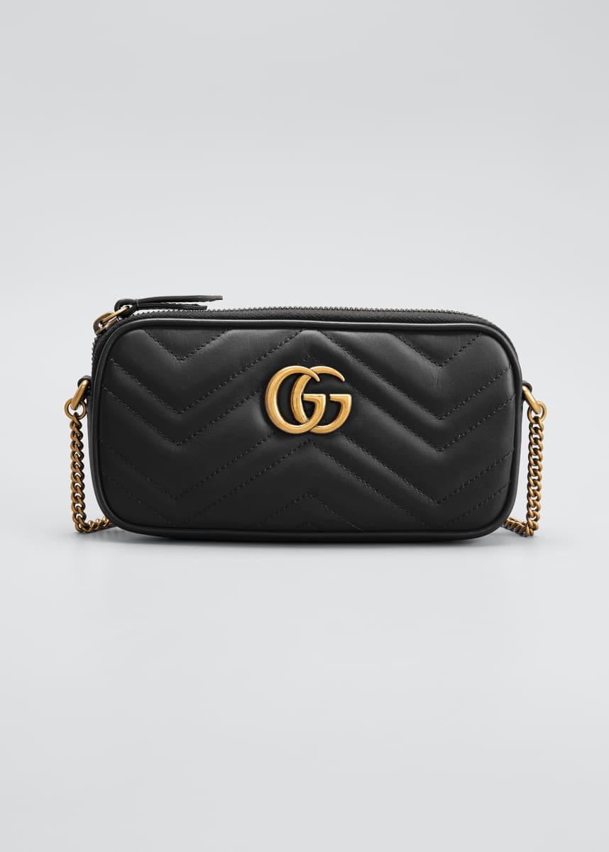 Gucci GG Marmont 2.0 Mini Matelasse Chain Wallet Bag