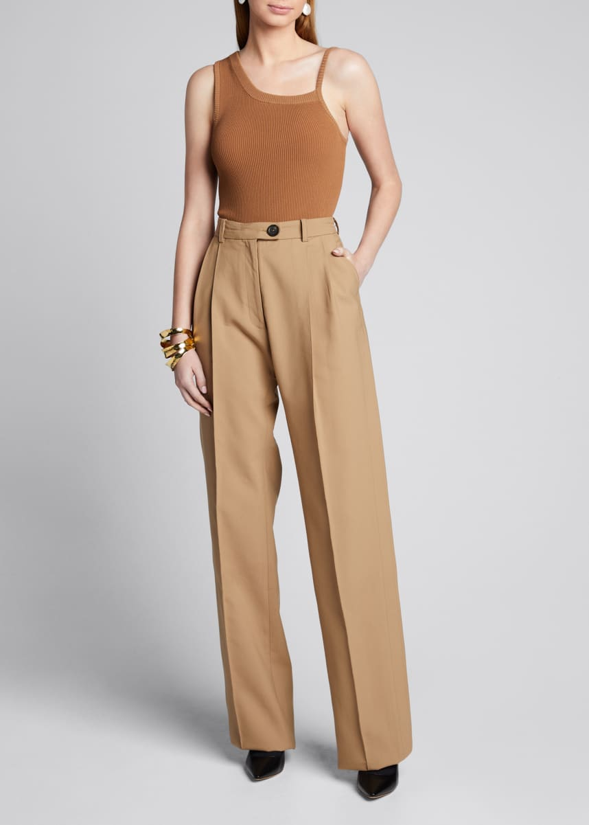 Peter Do Cotton Side-Pleated Trousers