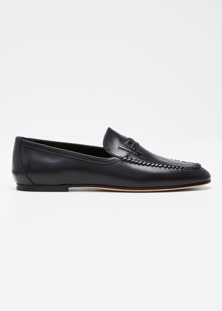 Tod's Selleria Woven Leather Loafers